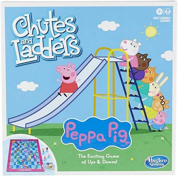 溜滑梯與爬樓梯小遊戲/HF2927 粉紅豬小妹 溜滑梯與爬樓梯小遊戲,HF2927,粉紅豬小妹,195166142777,桌遊,佩佩豬,佩奇