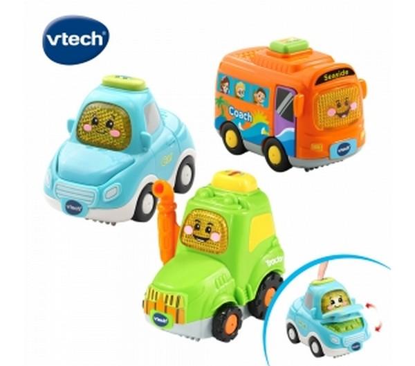 Vtech 嘟嘟聲光互動車-公路交通組/242173 Vtech,幼教,發展玩具,早教