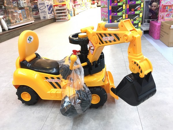 @二合一乘坐挖土機(附抓頭)/WJ007A 兒童電動工程車,半自動挖土機,聲光音效