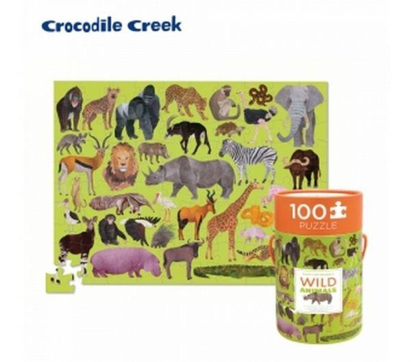 野生動物/40542 生物主題學習桶裝拼圖 732396405427,野生動物,40542,生物主題學習桶裝拼圖,偉易特