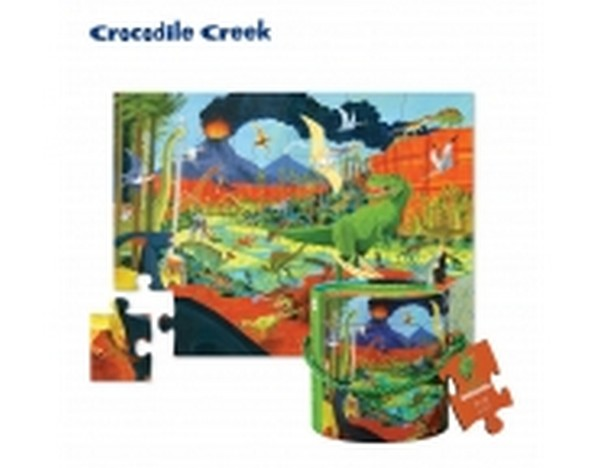 啟蒙巧巧桶拼圖-侏儸紀公園 Crocodile Creek/3238 Vtech,幼教,發展玩具,早教