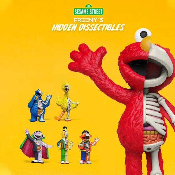 Freeny's Hidden Dissectible × Mighty Jaxx半解剖芝麻街 Sesame Street Freenys Hidden Dissectible,Mighty Jaxx,半解剖,芝麻街,Sesame Street,ELMO,COOKIE MONSTER