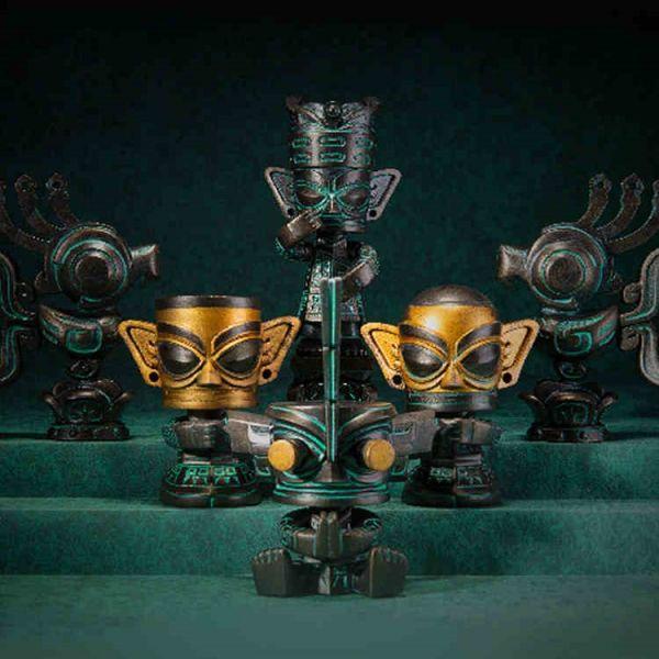 三星堆 祈福神官系列 古文明仿青銅器盲盒 三星堆,祈福神官系列,三星堆文明,青銅器