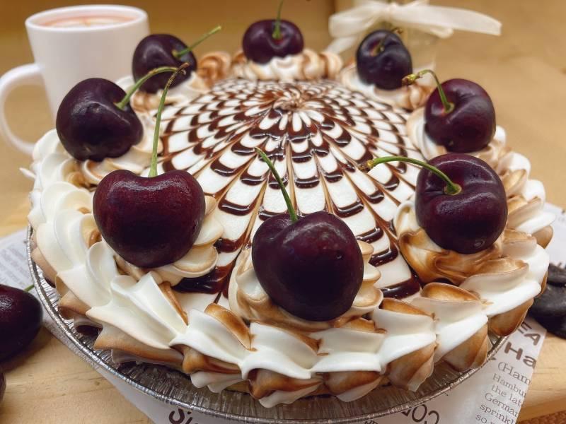巧克力櫻桃派(八吋) 全素派,全素甜點