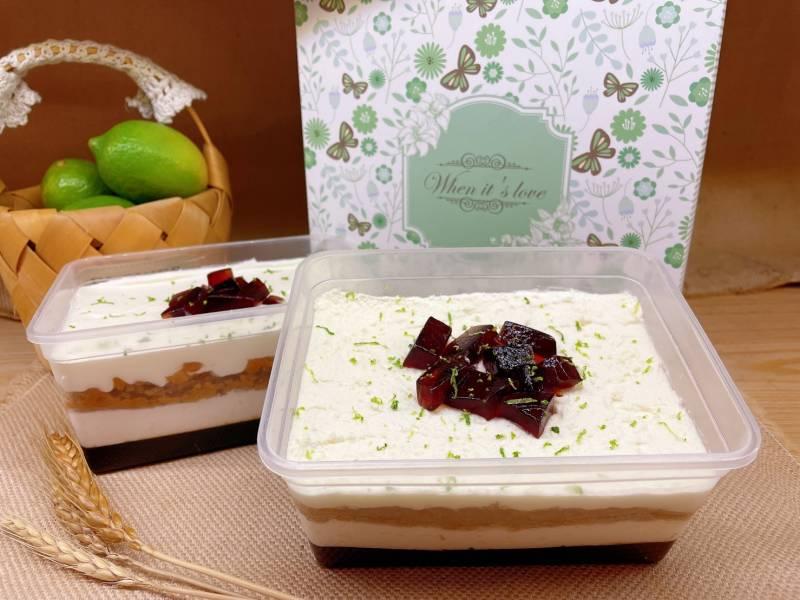 奶蓋檸檬紅茶凍旦糕盒 純素無奶無蛋,奶蓋檸檬紅茶凍旦糕盒