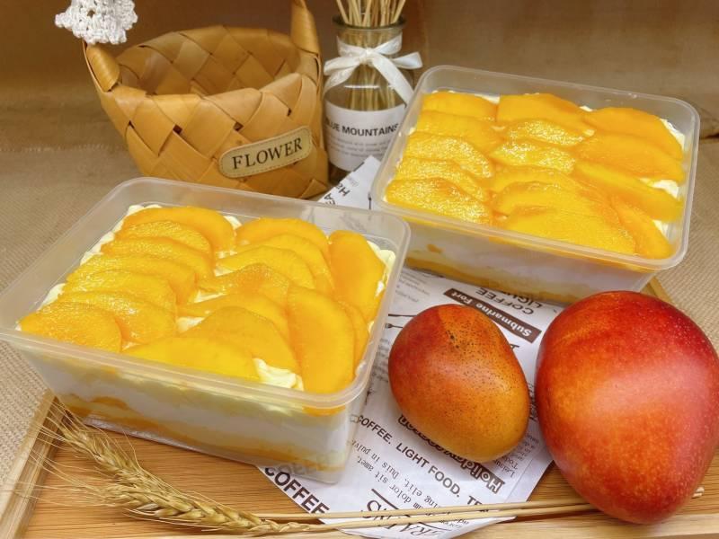 一顆芒果旦糕盒 無添加任何人工添加劑,純素無蛋奶,無蜂蜜,無五辛,芒果蛋糕