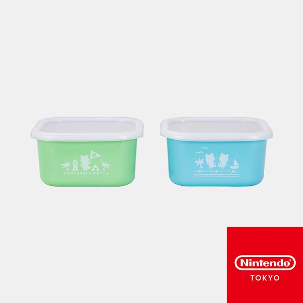 動物森友會 / 保鮮盒 2件組 / Nintendo TOKYO 動物森友會,餐盒,兩件組,ABS樹脂,PET,可微波(蓋子不可),Nintendo,TOKYO,動森,日本