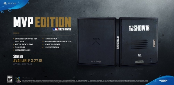 PS4 美國職棒大聯盟 MLB THE SHOW 18 ※ MVP典藏版※ 預購,PS4,美國職棒大聯盟,MLB,THE SHOW,中文版,MLB THE SHOW,美國職棒