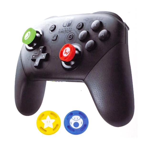 NS 瑪利歐 式樣 桿套 // 四入裝 // PRO手把、PS4手把皆適用 // 3D類比 桿套 // Nintendo Switch  NS,Nintendo Switch,Switch,任天堂,joy-cons,類比套,桿套,搖桿帽,保護套,手把套