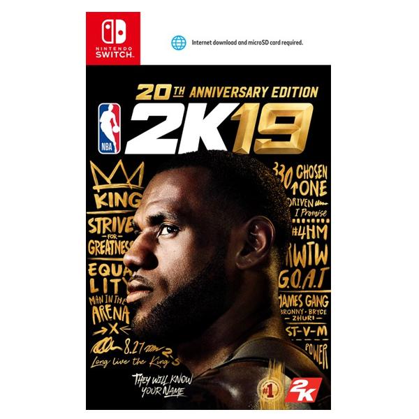 NS NBA 2K19 ※ 中文 20週年版 ※ 美國職業籃球 2019 ※ Nintendo Switch PS4,NS,SWITCH,NBA,2K19,20週年,中文版,美國職業籃球,美國職籃,NBA 2K19,2019