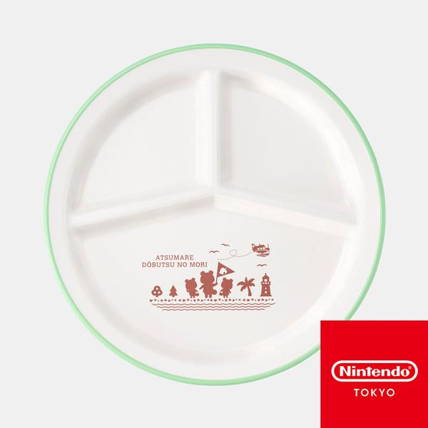 動物森友會 / 午餐 圓盤 / Nintendo TOKYO 動物森友會,午餐盤,圓形,PET,ABS樹脂,白,Nintendo,TOKYO,動森,日本