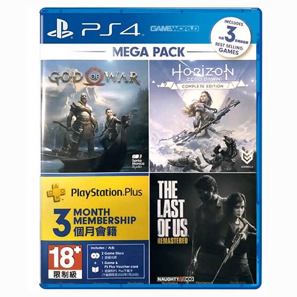 PS4  地平線 期待黎明 + 戰神 + 最後生還者 重製版 / 中文版 / 內含 PlayStation Plus 3個月會籍 PS4,最後生還者,戰神,黎明,地平線,中文,末日,戰鬥,大合集