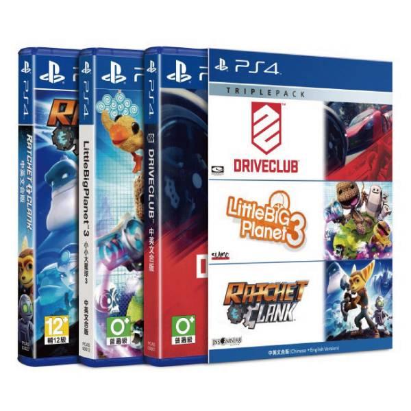 PS4 駕駛俱樂部 + 小小大星球 3 + 拉捷特與克拉克 三重包 中文版 PS4,駕駛俱樂部,小小大星球 3,拉捷特與克拉克,三重包,中文版