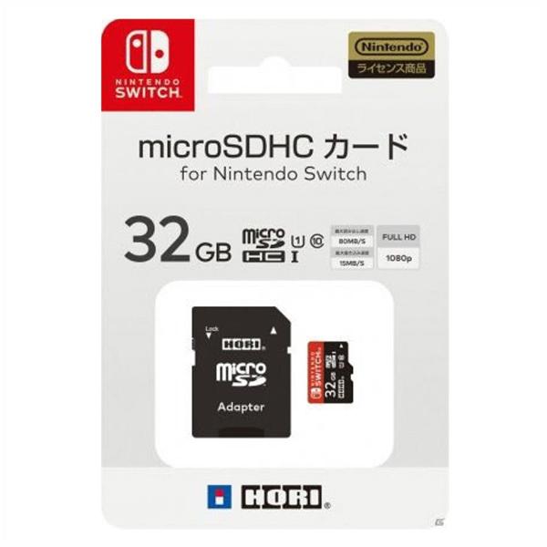 HORI 記憶卡 NS用 32G【Nintendo Switch】SDXC UHS-I C10 超高速獨取 存檔 Nintendo,switch,hori,128G,64g,32G,microsd