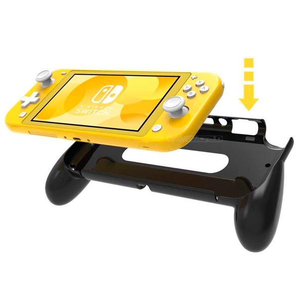 NS Switch Lite 握把 握柄套 / 黑色 硬殼 Nintendo,switch,hori,joy-con,十字鍵,瑪利歐,手把,lite,一體成形,TPU