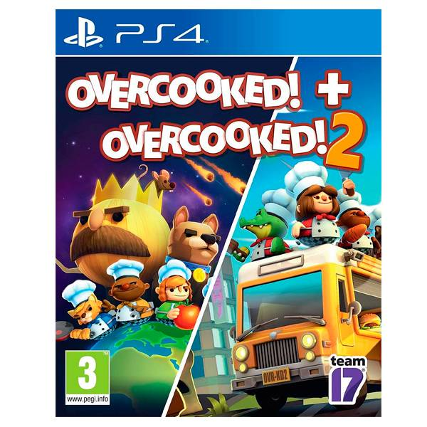 PS4 煮過頭 Overcooked 1+2 合輯 / 中英文版  預購,PS4,NS,煮過頭,地獄廚房,Overcooked,繁體中文,友情破壞