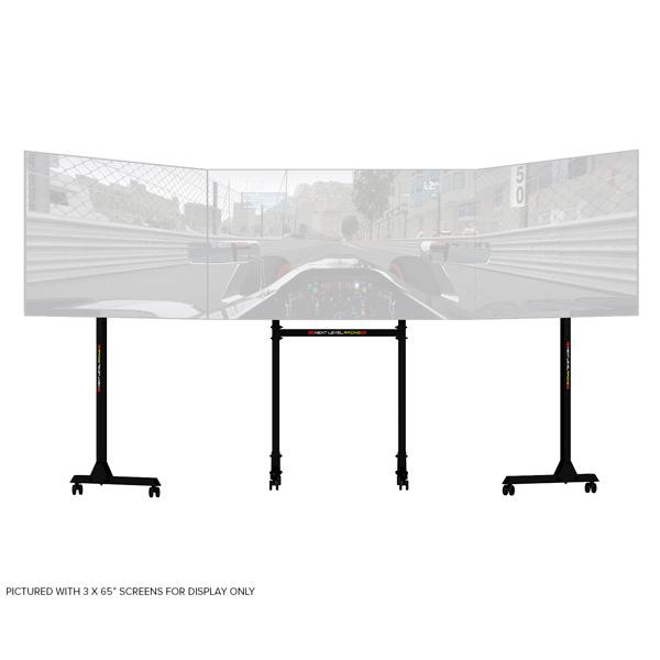 進口 高強度 NLR 三螢幕支架 附滾輪 // 最大到65吋x3 // NEXT LEVEL RACING NLR,AP1,獨立式 三螢幕支架,螢幕支架,賽車架,電視架,NEXT LEVEL RACING