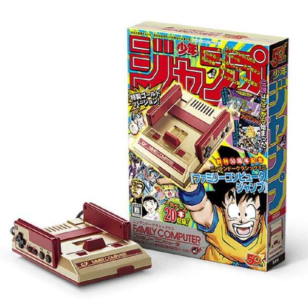 【原版正廠】日本 任天堂 迷你紅白機 JUMP創刊50周年紀念黃金版 ※ Nintendo MINI FC 限量,JUMP,50周年紀念,黃金版 ,迷你紅白機,紅白機,Famicom,任天堂,MINI,FC