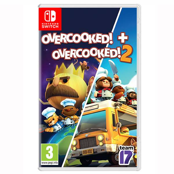 NS 煮過頭 Overcooked 1+2 合輯 / 中英文版  預購,PS4,NS,煮過頭,地獄廚房,Overcooked,繁體中文,友情破壞