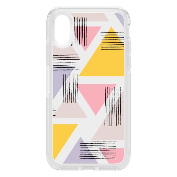 【年終出清 全新品】iPhone Xs Max OtterBox Symmetry Clear 炫彩幾何系列 保護殼 【甜蜜三角】 IPhone,手機殼,保護殼,軍規,防摔,OtterBox,X,XS,11,11PRO