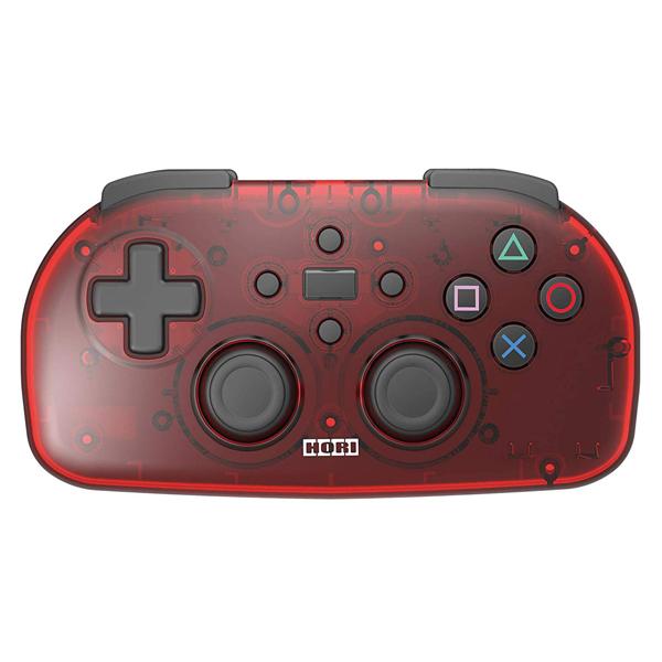 HORI PS4 輕巧型無線控制器 // 透明紅 // PS4,藍芽,Bluetooth,HORI,手把,無線,輕巧,控制器,黑,紅,透明