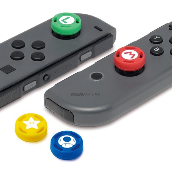 NS 瑪利歐式樣 桿套※ Joy-con專用 ※四入裝 ※ Nintendo Switch  NS,Nintendo Switch,Switch,任天堂,joy-cons,類比套,桿套,搖桿帽,保護套,手把套