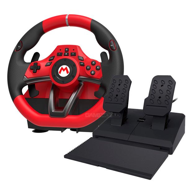 HORI 瑪利歐塞車8 方向盤 DX 版 Nintendo,switch,hori,joy-con,十字鍵,瑪利歐賽車8,手把,踏板,紅色,方向盤