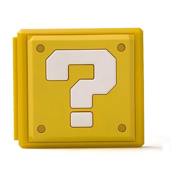 NS 卡夾盒 【方塊問號 樣式】 12+12 可放記憶卡 ※ 另有 瑪利歐 薩爾達 樣式 ※ Nintendo Switch  NS,Nintendo Switch,Switch,任天堂,卡夾盒,收納,記憶卡,瑪利歐,薩爾達