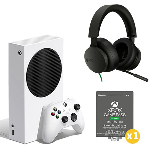 Xbox Series S + Xbox 耳機 有線+ XGPU 3個月x1  / 無光碟機版 / 台灣公司貨 Xbox Series S,Xbox Series X,XBOX,遊戲機,電視遊樂器,UHD BD,台灣公司貨,XBOX ONE,廉價版