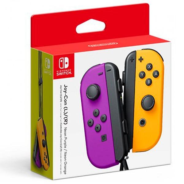 NS Joy-Con 左右手控制器 【電光紫 / 電光橙】一組 無線手把  Nintendo Switch 預購,Nintendo Switch,Switch,Joy-Con,握把,充電,手把,PRO手把,搖桿,NS,灰灰,紅藍,電光黃,電光橙,藍,電光紫
