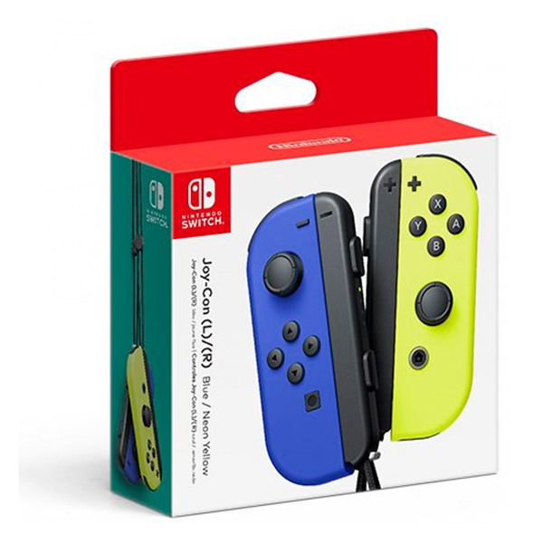 NS Joy-Con 左右手控制器 【藍 / 電光黃】一組 無線手把  Nintendo Switch 預購,Nintendo Switch,Switch,Joy-Con,握把,充電,手把,PRO手把,搖桿,NS,灰灰,紅藍,電光黃,電光橙,藍,電光紫