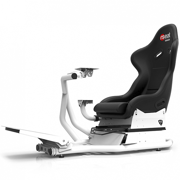 RSEAT RS1 白色 賽車架 + 賽車椅 + 排檔架 / 強化金屬管材 頂級桶椅 / 可升級動態模擬 賽車架,賽車椅,桶椅,鋼管支架,動態模擬,賽車,方向盤,GT,F1