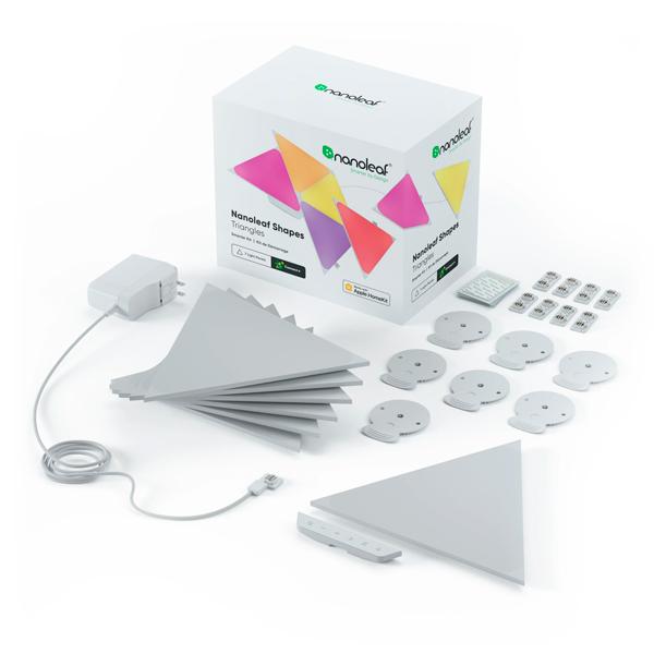 【新款】Nanoleaf Shapes 綠諾 智能三角燈 9片裝 完整套組 / 智慧燈板 / 台灣公司貨 Nanoleaf,智能,方塊燈,擴充版,台灣公司貨,siri,語音控制,綠諾,Shapes,六角,三角,四角