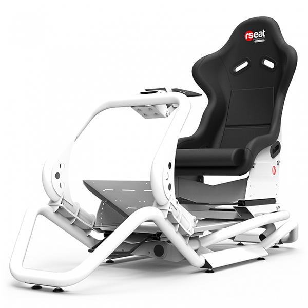 RSEAT N1 白色 賽車架+賽車椅 / 強化金屬管材 頂級桶椅 / 可升級動態模擬 賽車架,賽車椅,桶椅,鋼管支架,動態模擬,賽車,方向盤,GT,F1