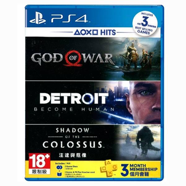 PS4 戰神 + 底特律 變人 + 汪達與巨像 + 3個月PLUS // 中文版 PS4,戰神,底特律,變人,汪達與巨像,3個月,PS PLUS,中文版