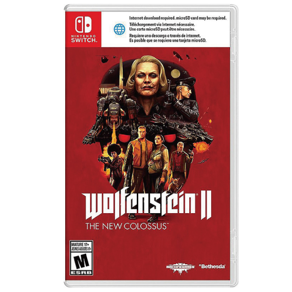 【二手】NS 德軍總部 2 新巨像 / 中文版 /  Wolfenstein II The New Colossus 2手,中古,寄賣,二手,NS,德軍總部 2,新巨像,中文版,Wolfenstein II,The New Colossus,Nintendo,Switch,Nintendo Switch