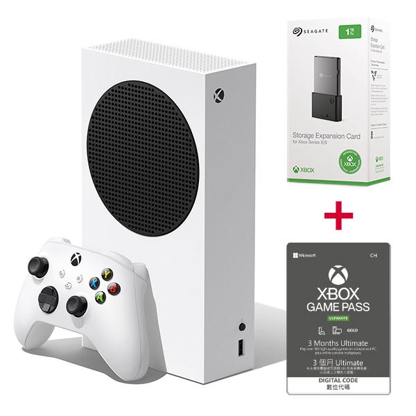 Xbox Series S + XGPU 3個月 + Seagate SSD 1TB / 無光碟機版 / 台灣公司貨 Xbox Series S,Xbox Series X,XBOX,遊戲機,SSD,擴充卡,XBOX GAME PASS,光碟機,廉價版,XGPU