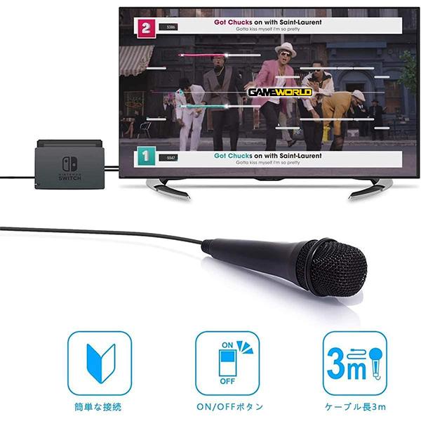 NS USB有線 卡拉OK 麥克風 高音質 Nintendo Switch 相容 NS,joy-con,HORI,便攜,專用控制器,加大,連發,人體工學,SWITCH,搖桿,皮卡丘
