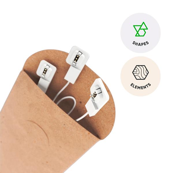 Nanoleaf 智能 連接片 / 適用 SHAPES ELEMENTS 系列 / 六角形 / 三角形智慧燈板 Nanoleaf,智能,方塊燈,擴充版,台灣公司貨,siri,語音控制,綠諾,Shapes,六角,三角,木紋