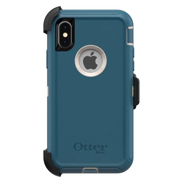 iPhone X / Xs 【全新 福利品】OtterBox Defender 防禦者系列 保護殼 【藍綠色】 螢幕通空設計版 IPhone,手機殼,保護殼,軍規,防摔,OtterBox,X,XS,11,11PRO