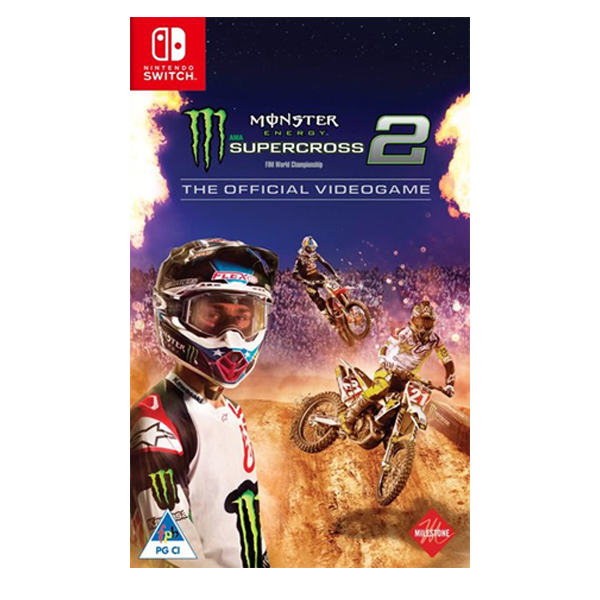 NS 野獸越野摩托車 2 // 亞英版 //  Nintendo Switch NS,SWITCH,野獸越野摩托車2,Monster,AMA,摩托車