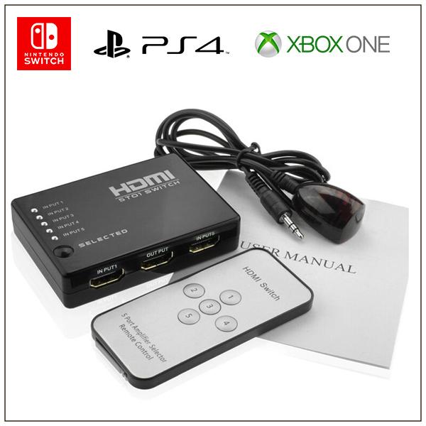 5進1出【HDMI切換器】附遙控 高清影音 1080P HDMI轉換器 分接器 電視盒 PS4 XboxONE SWITCH 3進1出,HDMI切換器,高清影音,1080P,HDM,轉換器,分接器,電視盒,PS4,XboxONE,SWITCH