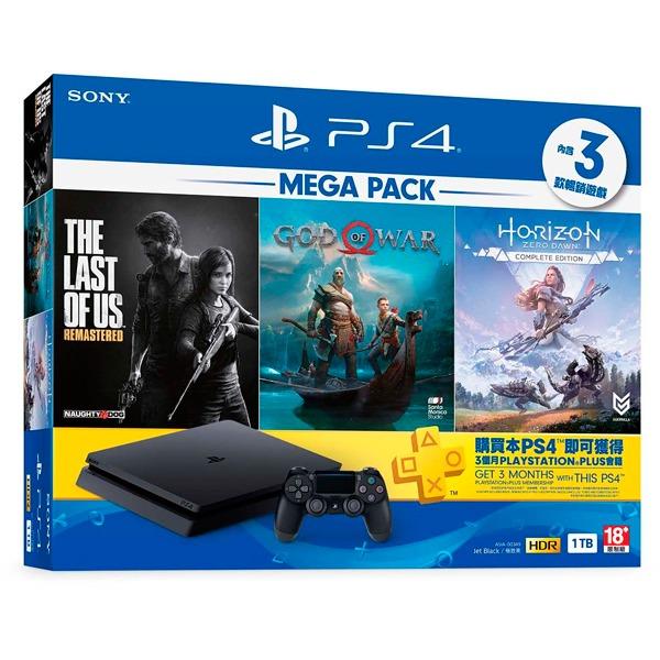 PS4 Slim 主機 經典大作同梱組 地平線 + 戰神 + 最後生還者 / 中文版 PS4,戰神,中文版,地平線,最後生還者,期待黎明,同捆,Slim,1TB,會員