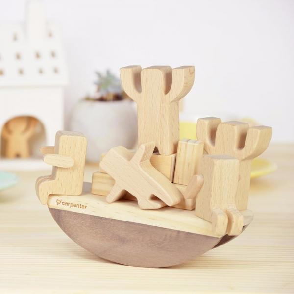 Noah's Easy Balance Wood,woodwork, beech, walnut, carpenter