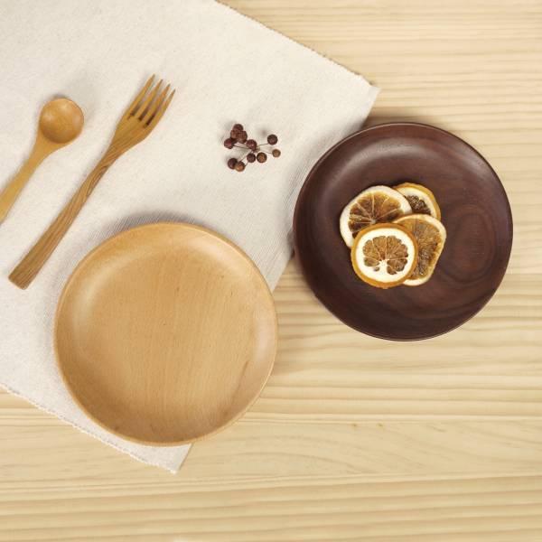 [Woody icon] Round dish (Walnut)