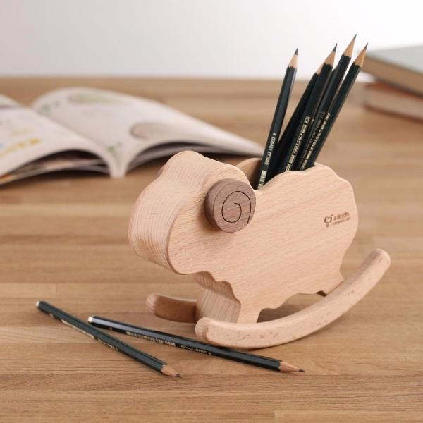Rocking Sheep Pen Pot wood, woodwork, DIY, pen pot,