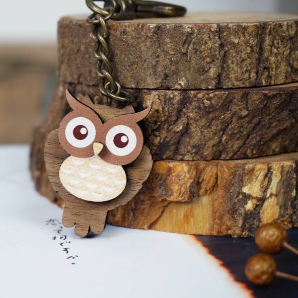 DIY-貓頭鷹鑰匙圈
