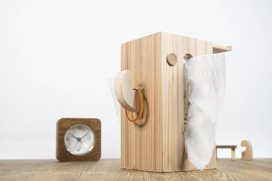 客製化禮品-台灣柳杉大象面紙盒