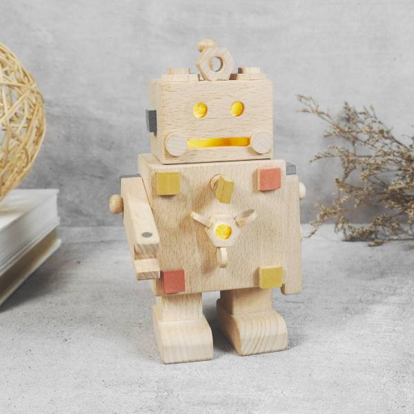 Manny Robot Induction Night Light woodwork workshop for cypress plate wooden, woodwork, cypress plate,