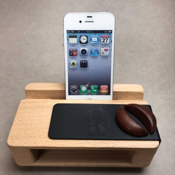 客製化禮品-解憂擴音手機座-月老版